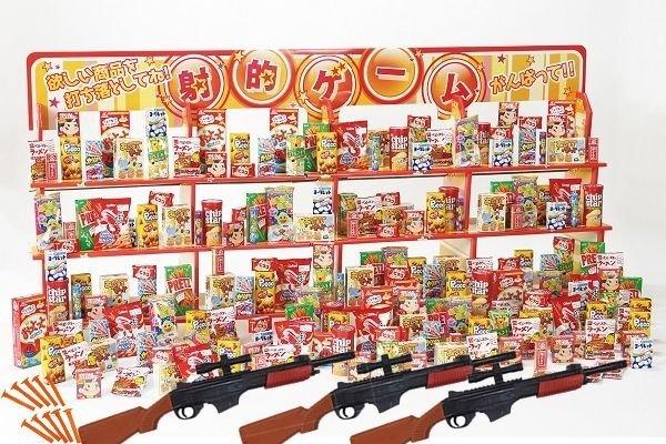 画像1: 吸盤式ワイド射的大会お菓子セット (1)