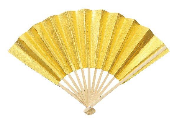 画像1: 金の扇子 (1)