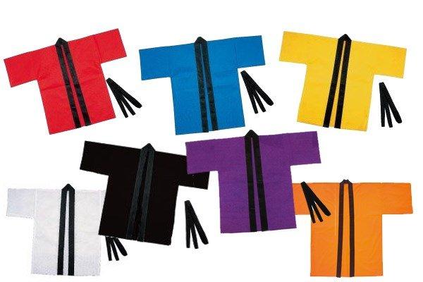 画像1: 大人用不織布はっぴ (1)