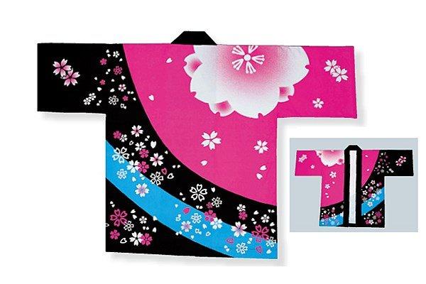 画像1: 子供用桜吹雪はっぴ (1)