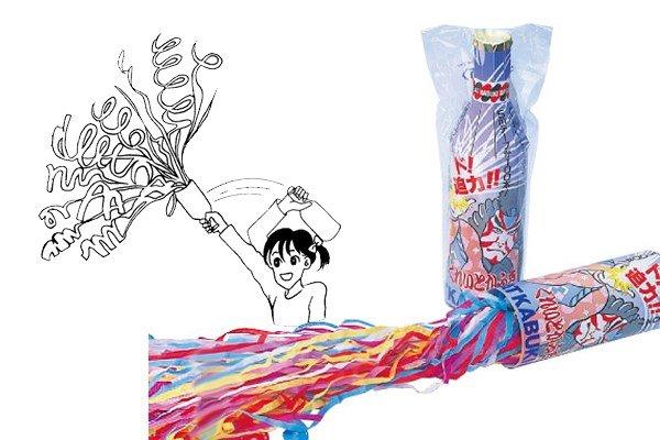 画像1: 火薬なし歌舞伎クラッカー6個セット (1)
