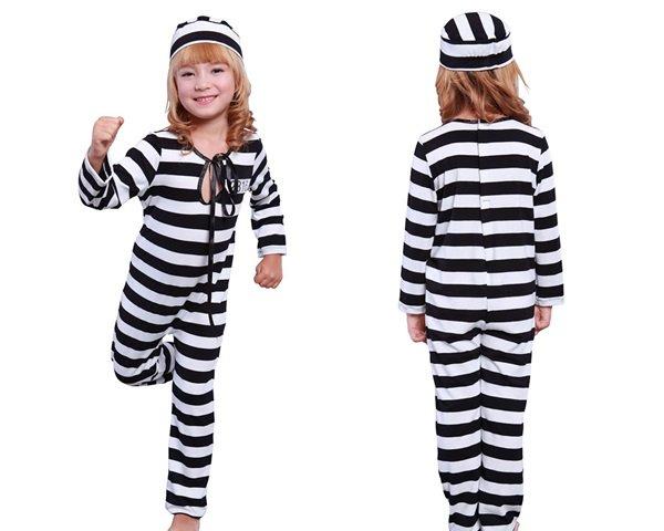 画像1: プリズナー子供囚人服 (1)