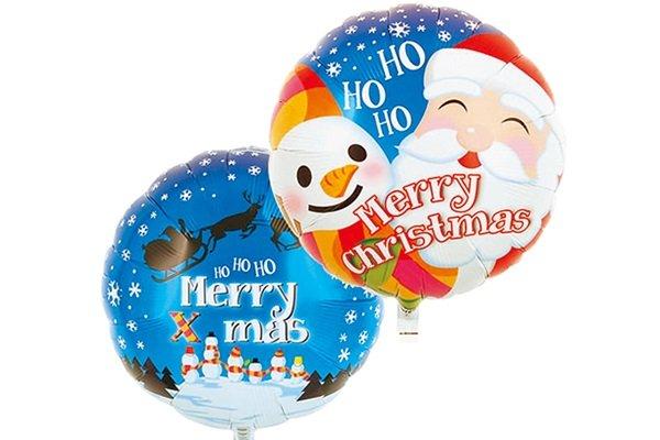 画像1: バリアフィルムサンタスノーマンクリスマス風船5枚 (1)