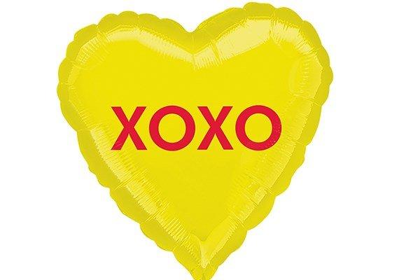 画像1: XOXO風船5枚 (1)