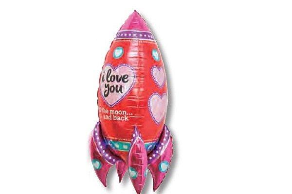 画像1: アイラブユーロケット風船(5枚) (1)