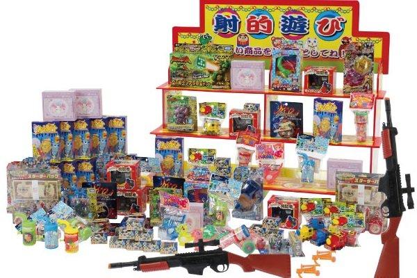 画像1: 縁日おもちゃ射的セット(吸盤タイプ) (1)