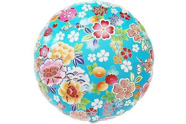 画像1: 千代紙風牡丹と桜風船5枚 (1)