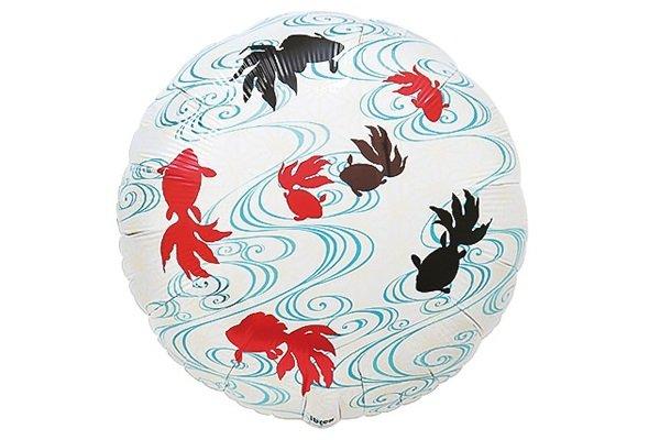 画像1: 流水金魚和風風船5枚 (1)