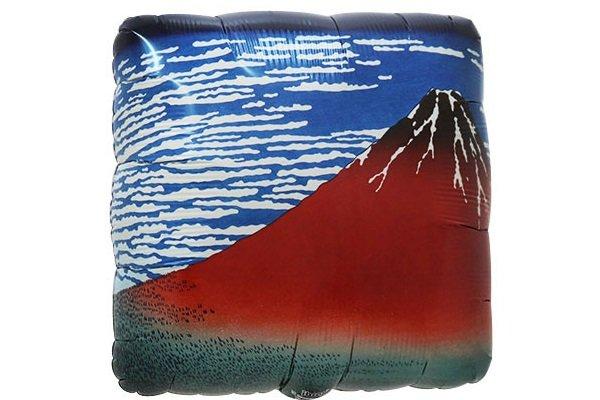 画像1: 和柄赤富士風船5枚 (1)