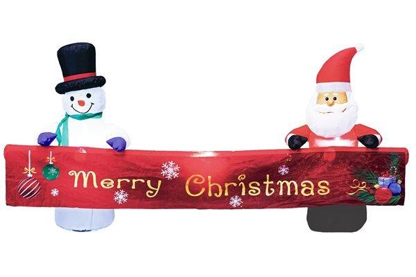 画像1: エアーディスプレイクリスマスバナー (1)