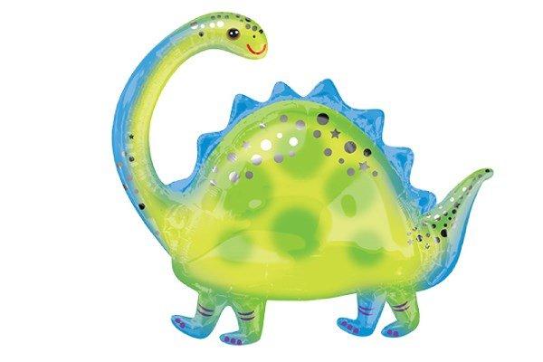 画像1: ブロントサウルス風船1枚 (1)